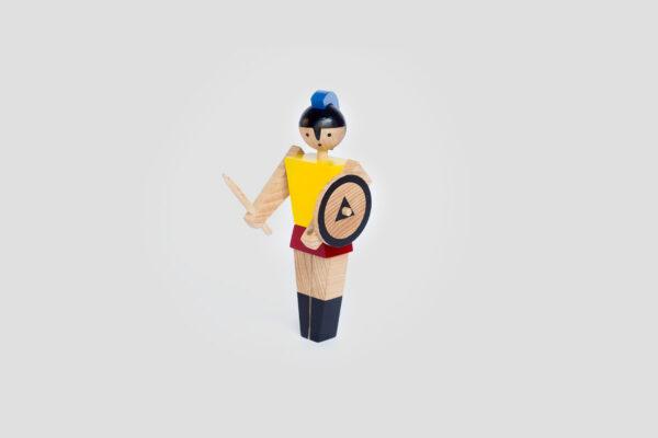 wooden toy Spartan