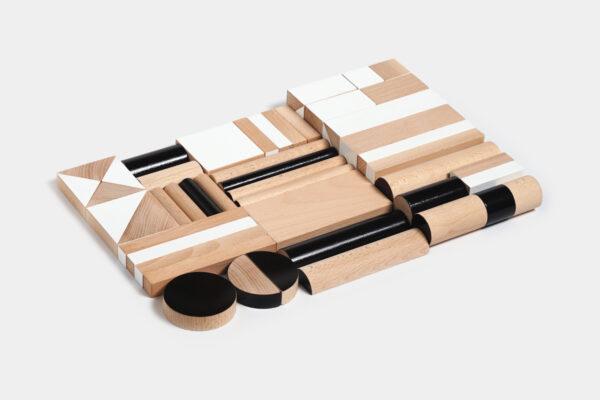 dřevěná stavebnice BRIKULO černobílá