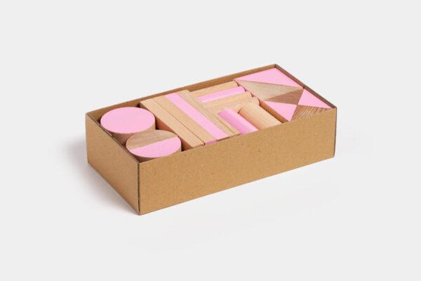 dřevěná stavebnice BRIKULO růžová