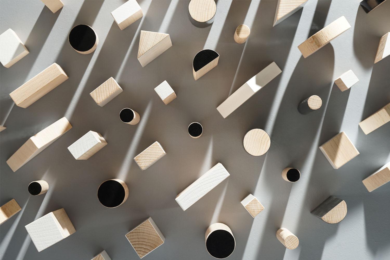 KUTULU dřevěná stavebnice BRIKULO černobílá