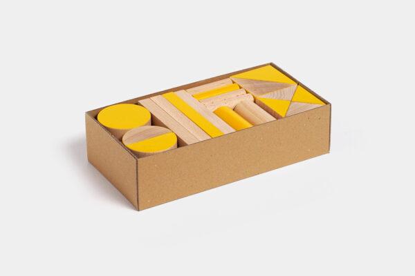 dřevěná stavebnice BRIKULO žlutá